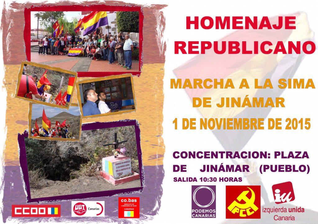 Cobas participa en la Marcha a la Sima de Jinamar