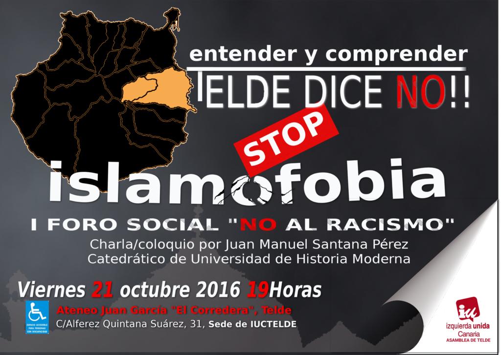 """Izquierda Unida Canarias Telde, nos invita al I Foro """"No al racismo"""""""