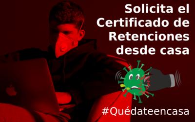 CERTIFICADO DE RETENCIONES 2019: El Servicio comunica al Comité de Empresa de como obtener el certificado de retenciones y que se lo hagamos llegar