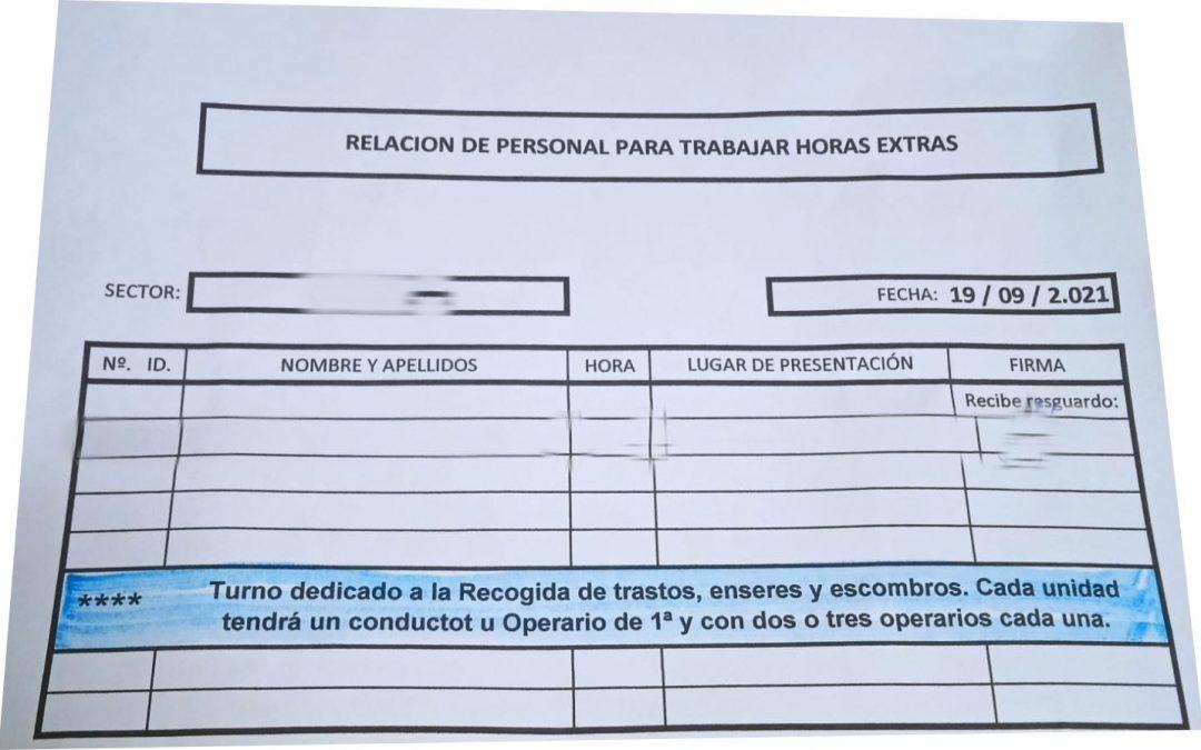 COBAS LV: Sin negociación previa con el Comité de Empresa,  la Concejal Dª Inmaculada Medina activa de nuevo los turnos